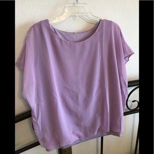 Lavender flowy top